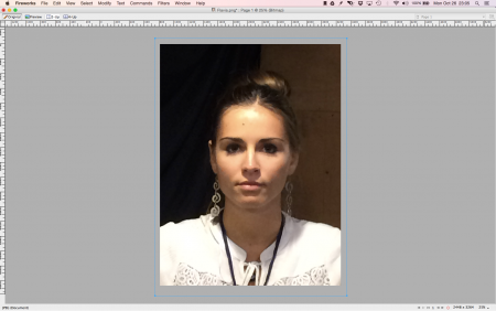 Here I have imported the photo of the model, Flavia.